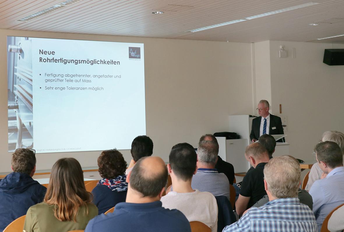 Jürgen Sohn stellt die neuen Möglichkeiten in der Rohrbearbeitung vor
